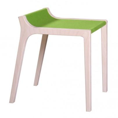 Sirch Xarre Wooden Stool with Green Felt-listing