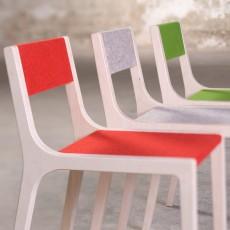 Sirch Stuhl Sepp aus Holz und Filz rot -listing
