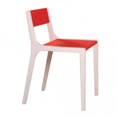 Sirch Chaise Sepp en bois et feutre rouge-listing
