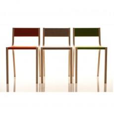 Sirch Chaise Sepp en bois et feutre gris-listing