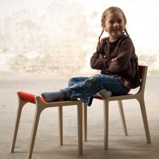 Sirch Xarre Wooden Stool with Red Felt-listing