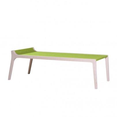 Sirch Banc Table Erykah en bois et feutre vert -listing
