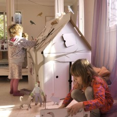 Studio Roof Casa Cabana Maison en carton avec motifs-listing