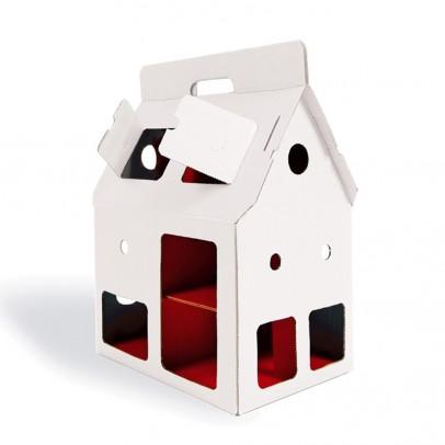 Studio Roof Casa de Muñecas cartón Mobilehome Blanca-listing
