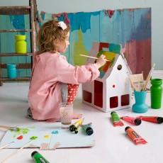 Studio Roof Casa delle bambole in cartone Mobilehome Bianco-listing
