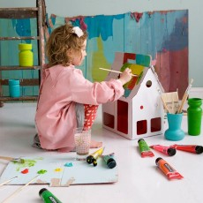 Studio Roof Karton-Puppenhaus Mobilehome Weiss -listing