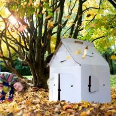 Studio Roof Casa Cabaña en cartón blanca-listing