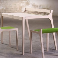 Sirch Afra Wooden Desk with Green Felt-listing