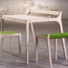 Sirch Bureau Afra en bois et feutre vert-listing