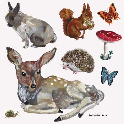 Domestic Sticker Gli animali - 8 pezzi-listing
