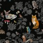 Domestic Wild wall paper - black-medium