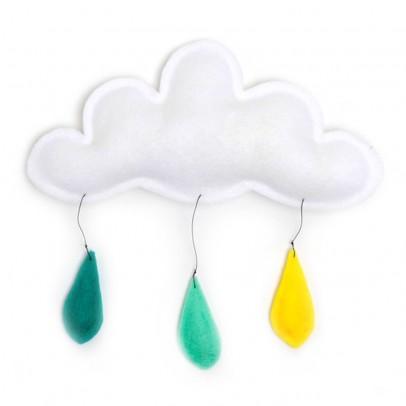 The Butter Flying Móvil Gotas de lluvia amarillo/menta/turquesa-listing