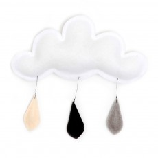product-The Butter Flying Cloud mobile rain of color grey/black/cream