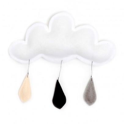 The Butter Flying Mobile Gouttes de pluie gris/noir/crème-listing