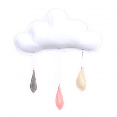 The Butter Flying Mobile Gouttes de pluie gris/pêche/crème-listing