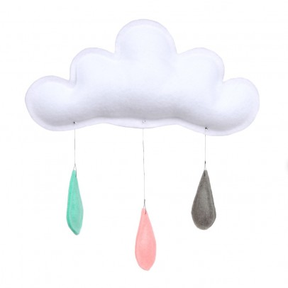 The Butter Flying Mobile rain of colors mint/pfirsich/grau-listing