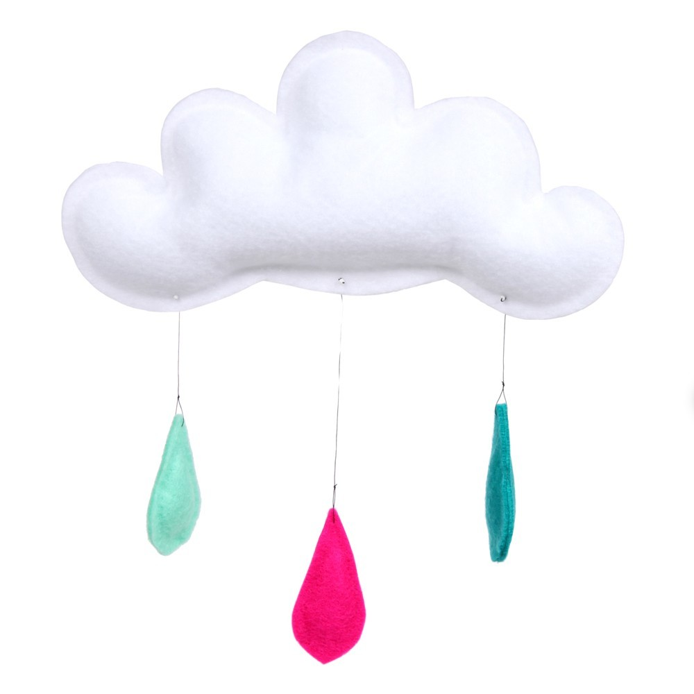 Turquoise Pink Mint Rain of colors Mobile-product