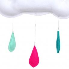 The Butter Flying Móvil lluvia de colores turquesa/rosa/menta-listing