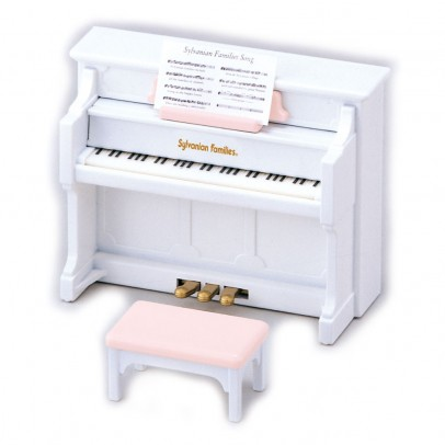 Sylvanian Set piano blanco-listing