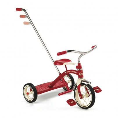 Radio Flyer Classic Red Tricycle with Push Handle-listing