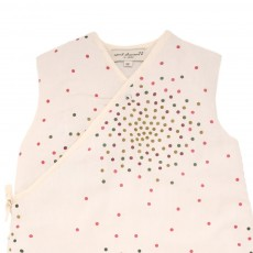 April Showers Ecru Baby Sleeping Bag - Multi-Coloured Dots-listing