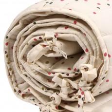 April Showers Bettumrandung Vanilla - bunte Punkte-listing
