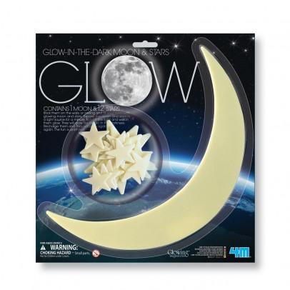 4M Set Sticker phosphoreszierend - Mond und Sterne-listing