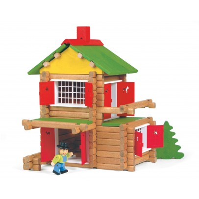 Jeujura Construction game , My wooden chalet , 135 pieces-listing