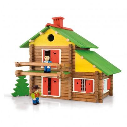Jeujura Juego de construcción Mi casa de madera-175 piezas-listing