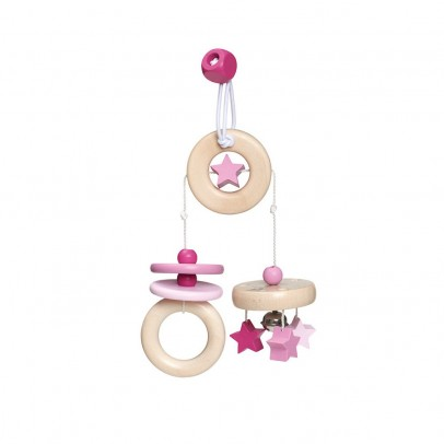 Selecta Travelling mobile in wood - Pink-listing