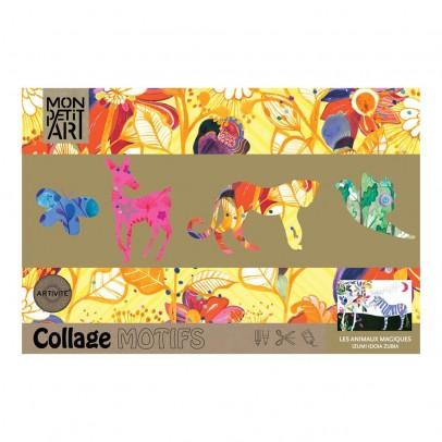 Mon Petit Art Cahier de collage et de coloriage Animaux magiques-listing