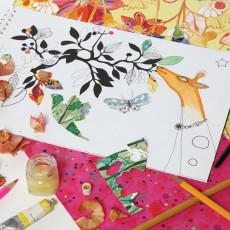 Mon Petit Art Cuaderno de pegar y colorear Animales mágicos-listing
