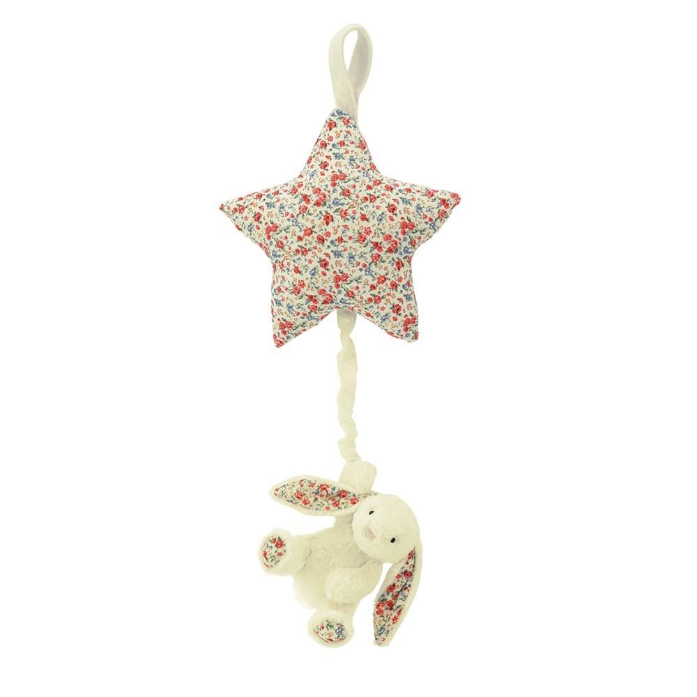 Jellycat Estrella musical Conejo Blossom Bashful - Crema-product
