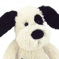 Jellycat Hund Bashful - schwarz und cremefarben-product