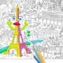 Poster gigante Paris para colorear-medium