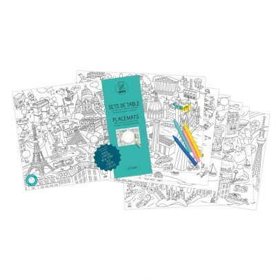 Omy Set de mesa para colorear Citymap-listing