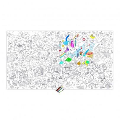Omy Poster gigante da colorare- Gufo-listing