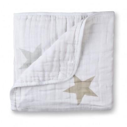 aden + anais  Decke - Sterne maulwurfsfarben und grau-listing