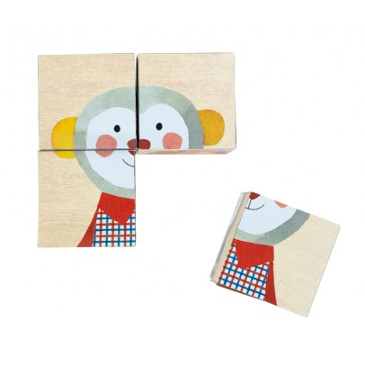 Moulin Roty Cubos de madera retratos-product