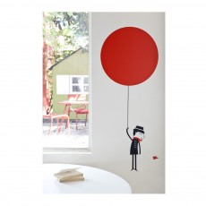 Poisson Bulle Sticker Monsieur and the red balloon Sticker  - Blanca Gomez-product
