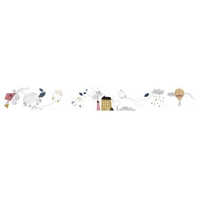 Poisson Bulle A beautiful Day Wall  Sticker-product