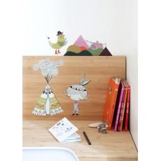 Poisson Bulle Teepee sticker - girl-product