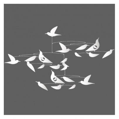 Djeco Mobile, weisse Vögel, Katsumi Komagata-listing