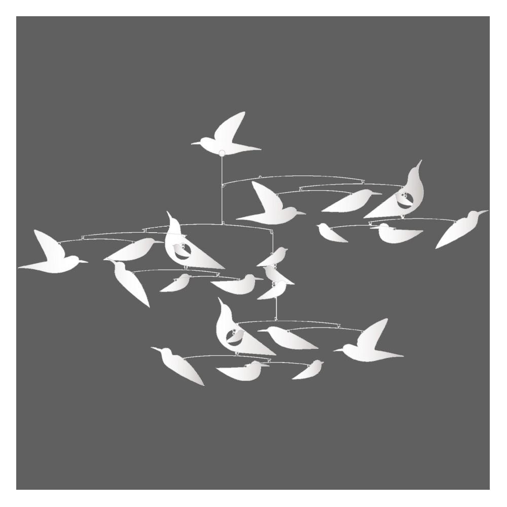 Djeco Mobile Oiseaux blancs Katsumi Komagata-product