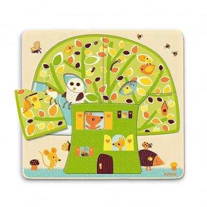 Djeco Puzzle 3 niveles - Cabaña en los árboles-listing