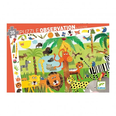 Djeco Observing Puzzle - Jungle-listing