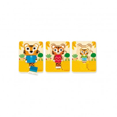 Djeco Puzzle 3 layers - Tiger-listing