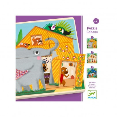 Djeco Puzzle 3 layers - Cabana-product