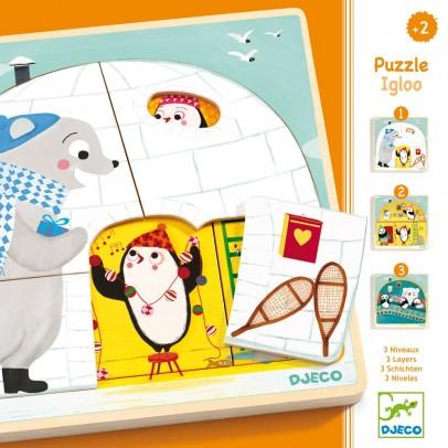 Djeco Puzzle 3 niveaux - Igloo-product