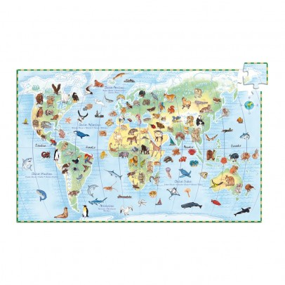 Djeco Puzzle Wolrd's animals and booklet-product